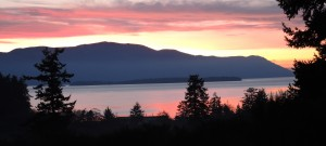 Sunset over Orcas, Jan 17