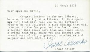 asimov letter
